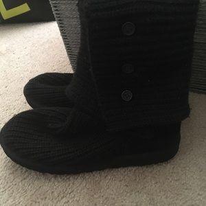 Ugg Cardy Boot-  Black